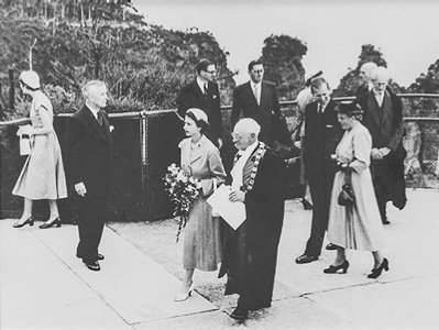 Royal Visit 1954 - Blue Mountains